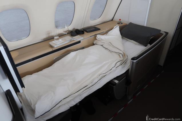 Lufthansa First Class Bed - Super Comfy