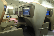 Singapore Airlines Business Class Aisle View