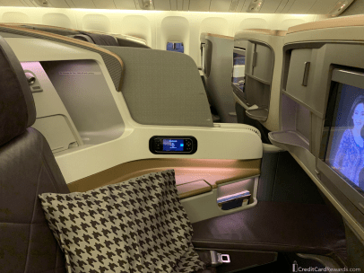 Singapore Airlines Business Class Middle Seat Divider