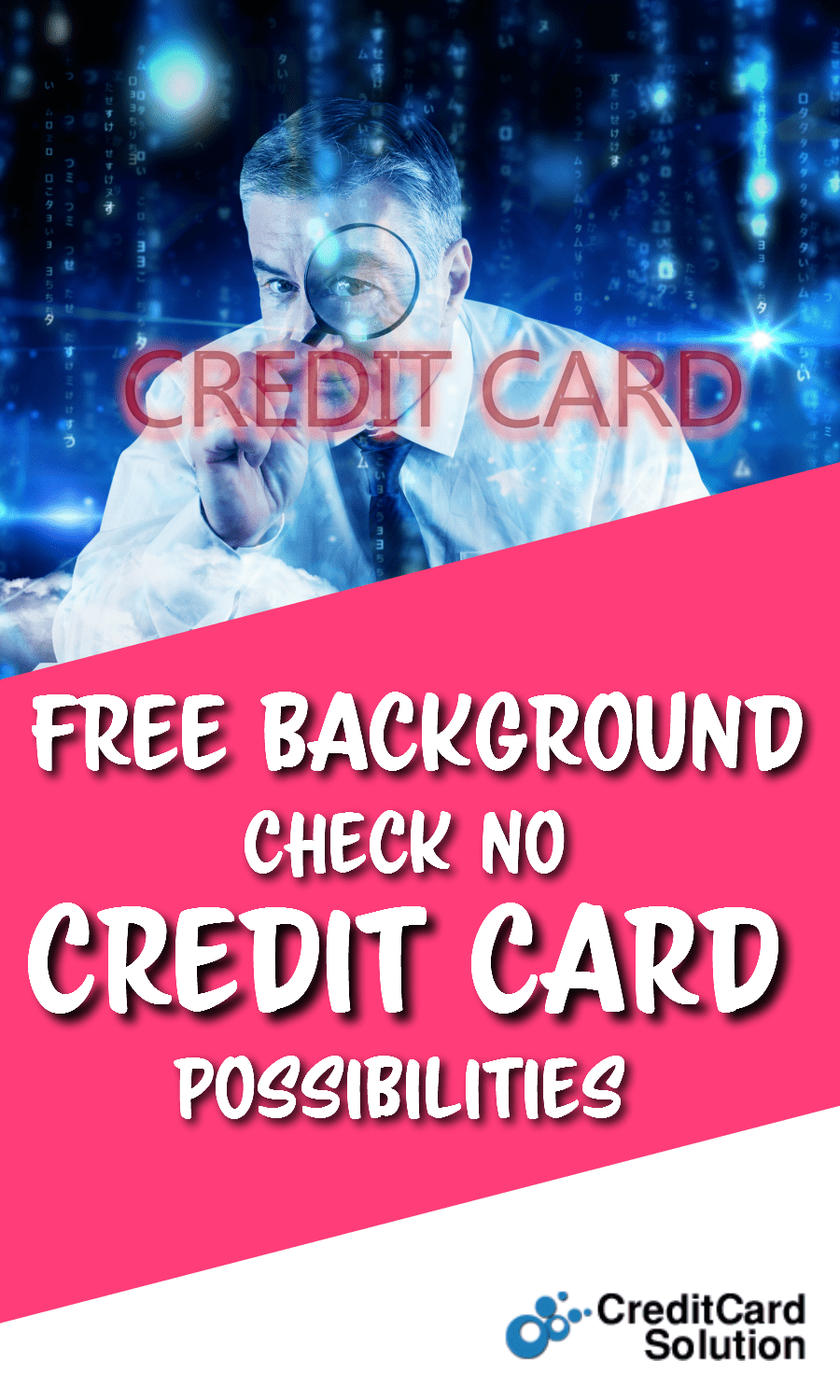 Free Background Check No Credit Card Possibilities