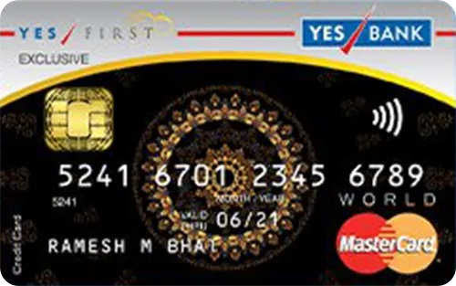 Yes Bank First Exclusive credit card