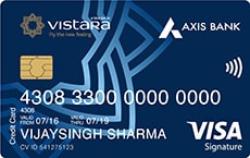 Axis Bank Air Vistara Signature