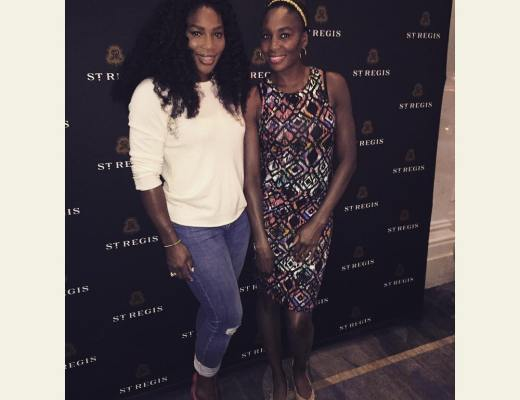 Serena Williams Parties all night with Venus,Ciara,  LaLa Anthony in New York City