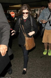 Anna Kendrick Arrives LAX Airport on Friday and Leaves Looking more happier Less than 24 hours later