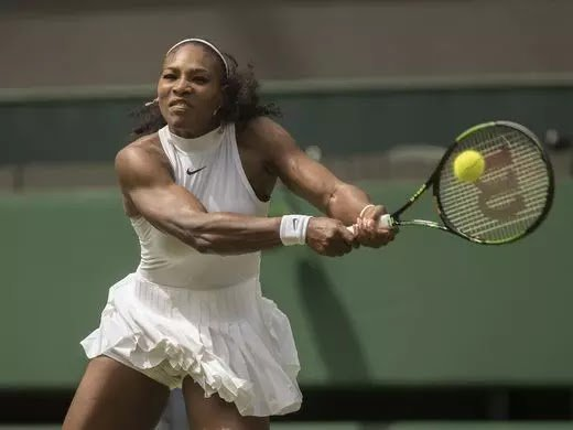 Serena Williams in action at the 2016 Wimbledon