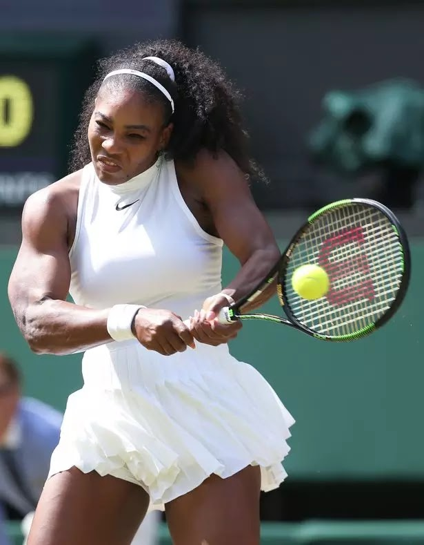 "Serena Williams Racy Nipple Showing Nike Wimbledon Dress left  Viewers shocked and ""distracted"""