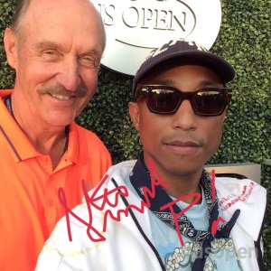 Pharrell Williams Takes a Selfie with Former US Open Champion Stan Smith