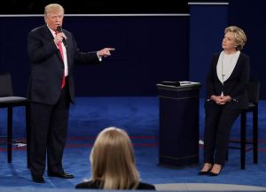 "Donald Trump tells Hillary Clinton-""No body has more respect for women than me"""