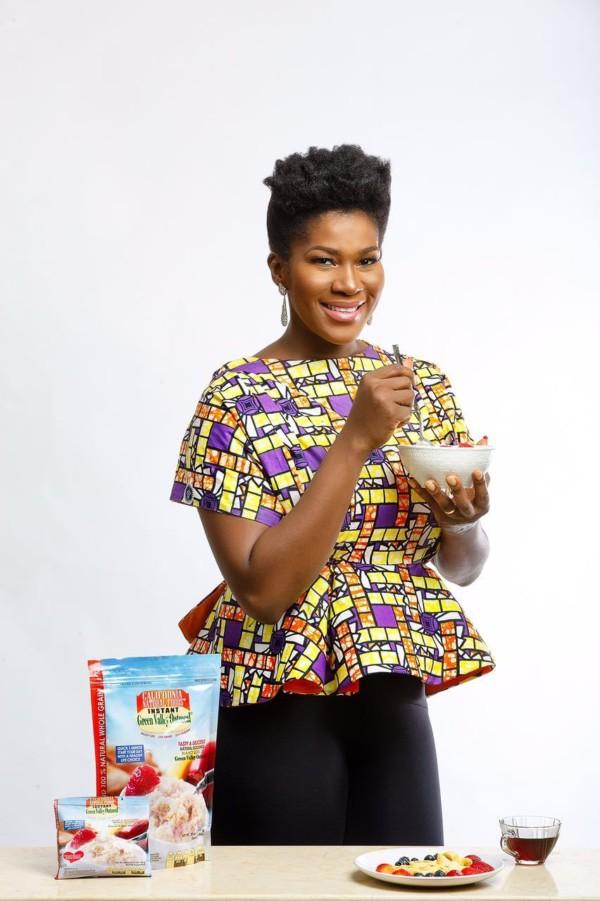 Nollywood Actress Stephanie Okereke Linus becomes Green Valley Oatmeal Ambassador