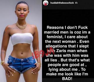 I Only Screw Unmarried Men Because I'm A Feminist – Huddah Monroe