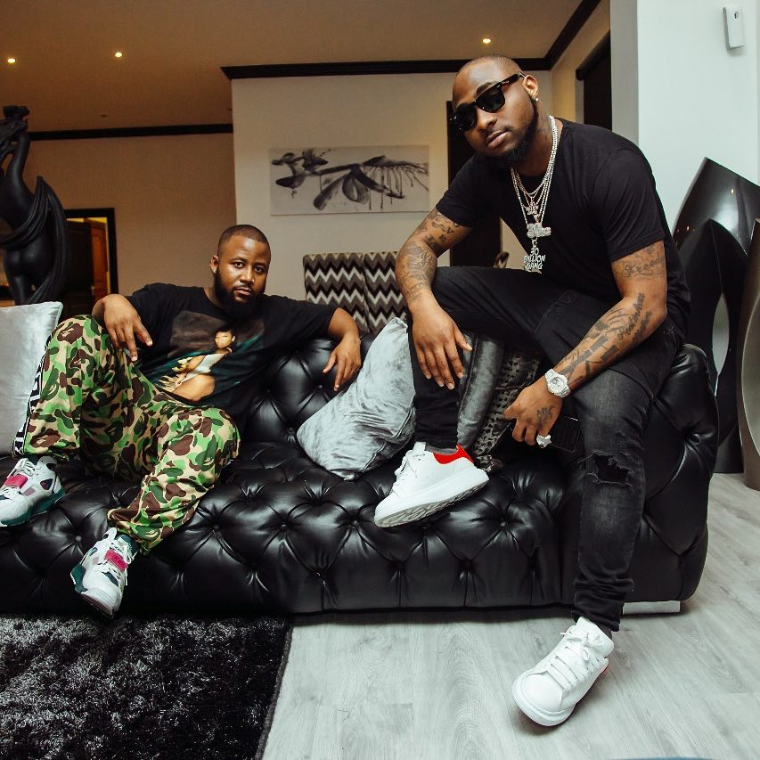 Davido And Cassper Nyovest up to something On Another Music Project In South Africa (PHOTO)