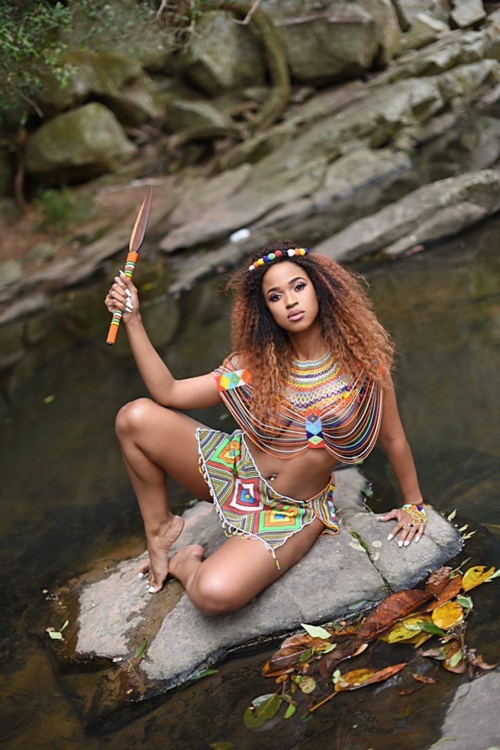 South African Lady goes Completely Naked To Celebrate Zulu Culture (Photos)