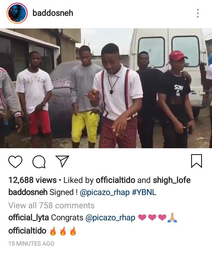 Olamide Signs Picazo Rap To YBNL