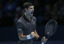 Djokovic cruise control past Isner in ATP Finals opener