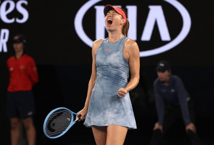 Maria Sharapova upsets 2018 Australian Open Winner, 6-4, 4-6, 6-3