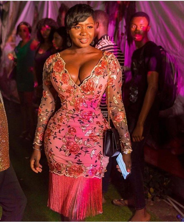 Curvy Actress, Shyngle Rocks Cleavage-Baring Outfit To Toyin Lawani's Birthday Party
