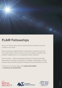 THE FUTURE LEADERS – AFRICAN INDEPENDENT RESEARCH (FLAIR) FELLOWSHIP 2020 ROUND HAS OPENED