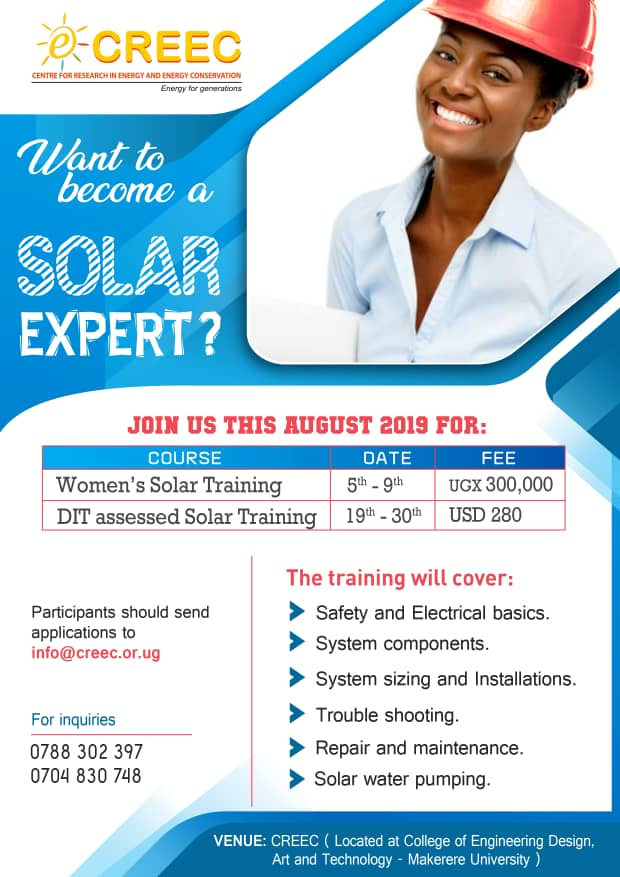 JOIN US FOR OUR AUGUST 2019 SOLAR TRAINING SESSIONS