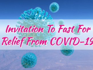 Invitation To Fast For Relief From COVID-19