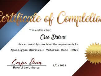 Certificate of Completion 2020