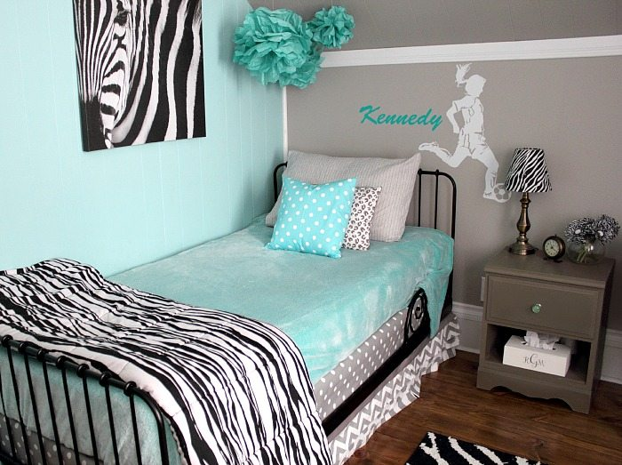Turquoise And Grey Tween Bedroom A Before And After