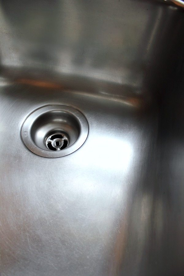 sanitize your stainless steel sink