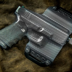 Kydex outside waist band OWB Glock 19 Black Carbon Fiber