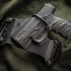 Kydex outside waist band OWB SOB Small of Back Black Carbon Fiber Walther PPS