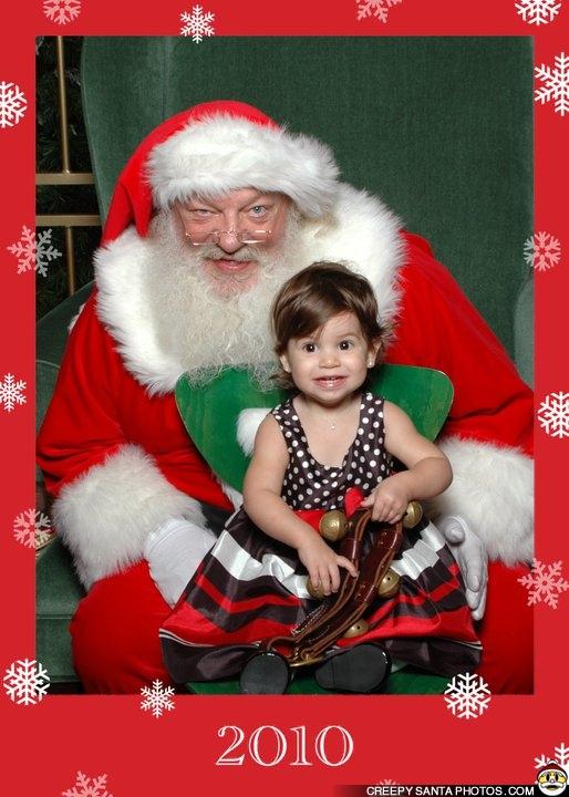 Creepy Santa Twins Funny Weird And Scary Santa Pics