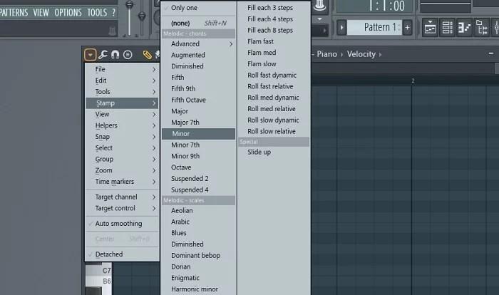 accord majeur ou mineur sur fl studio