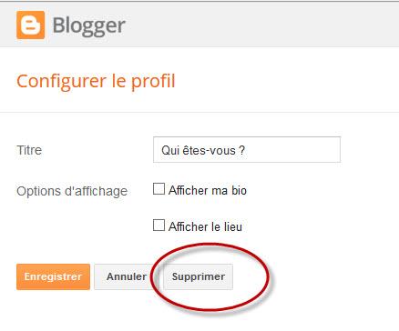 Configurer le profil sous Blogger