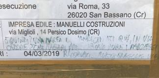 La scritta contro i disabili comparsa a Cremona