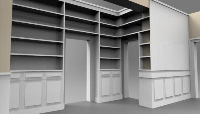 libreria attorno porte boiserie