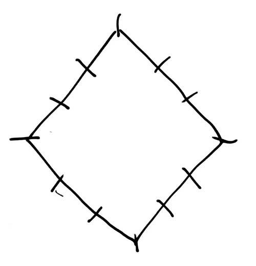 Rhombus-w-tick-marks