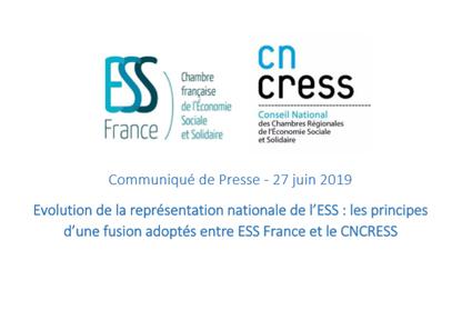 Évolution de la représentation nationale de l'ESS : les principes d'une fusion adoptés entre ESS France et le CNCRESS