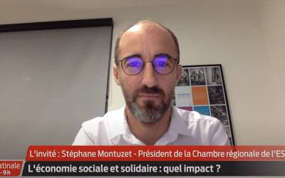 Interview de S Montuzet, président de la CRESS Nouvelle-Aquitaine sur TV7