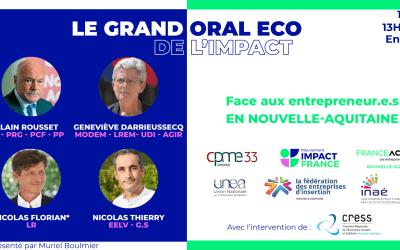 L e Grand Oral Eco : Régionales en Nouvelle Aquitaine