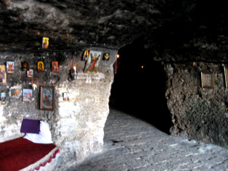 The cave where St Andrew lived during his journey, Romania