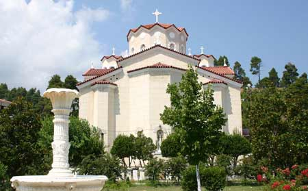 St John of the Russian church, Greece, view from the back