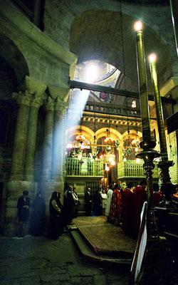 Biserica Sfantului Mormant - Biserica Invierii, privita dinspre Sfantul Mormant