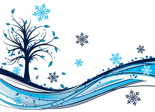Tree winter background