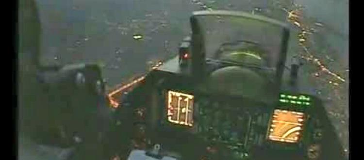 Η Κρήτη το βράδυ μέσα από ένα F-16