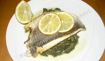 Φιλέτο ψαριού με χόρτα