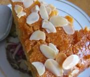 Σιροπιαστή ταχινόπιτα με σιμιγδάλι (αλάδωτη)