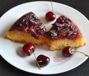 Αναποδογυρισμένο κέικ με κεράσια και ινδοκάρυδο