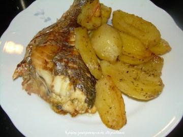 ψάρι πατάτες φούρνο μενού 44 κολάζ συνταγές cretangastronomy.gr