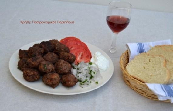 κεφτέδες τηγανητές πατάτες μενού 44 κολάζ συνταγές cretangastronomy.gr