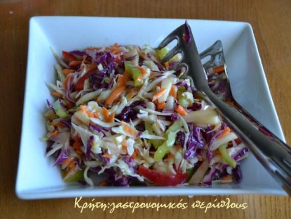 πολύχρωμη λαχανόσαλατα μενού 44 κολάζ συνταγές cretangastronomy.gr