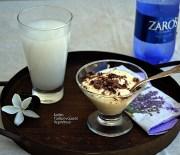 Δροσερή κρέμα αμυγδάλου (με σουμάδα ή γάλα αμυγδάλου)