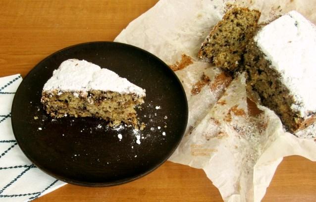 Κέικ με πράσινο κολοκύθι και τρούφα σοκολάτας